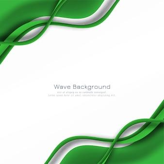 Sfondo astratto onda verde incandescente