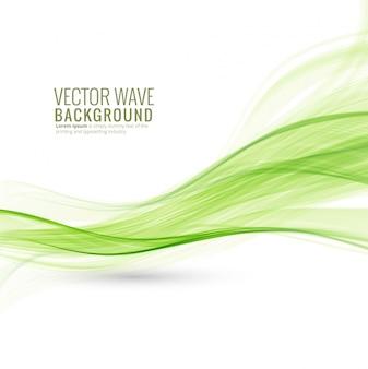Sfondo astratto onda verde