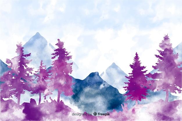 Sfondo astratto paesaggio ad acquerello