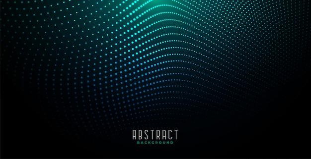 Sfondo astratto particelle digitali con luce incandescente