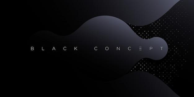 Sfondo astratto premium nero minimalista con elementi geometrici scuri di lusso. carta da parati esclusiva per poster, brochure, presentazione, sito web, banner ecc. -