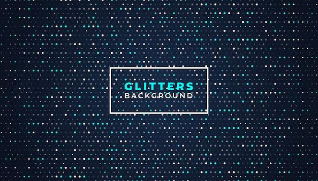 Sfondo astratto scuro con elementi glitter