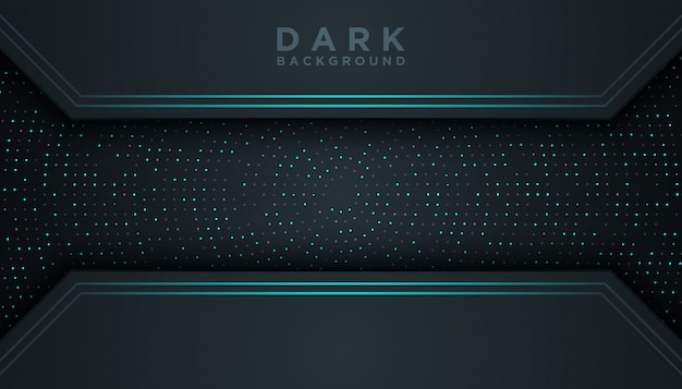 Sfondo astratto scuro con strati di sovrapposizione blu scuro