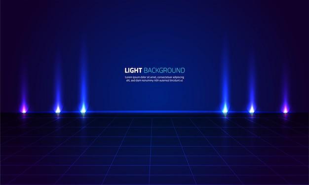Sfondo astratto spettacolo di luci