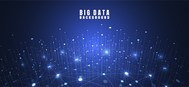 Sfondo astratto tecnologia con grandi dati