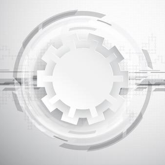 Sfondo astratto tecnologia con ingranaggi e griglie di collegamento
