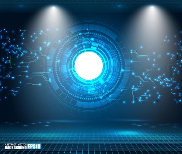 Sfondo astratto tecnologia concetto di comunicazione hi-tech