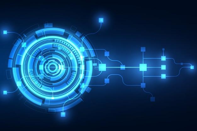 Sfondo astratto tecnologia delle telecomunicazioni del futuro