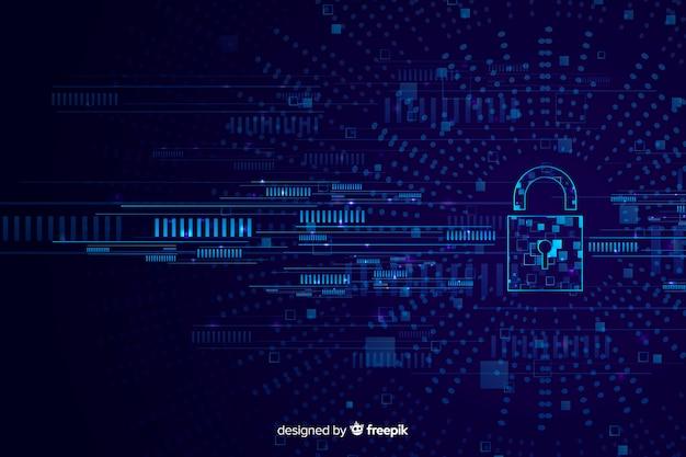 Sfondo astratto tecnologia sicura
