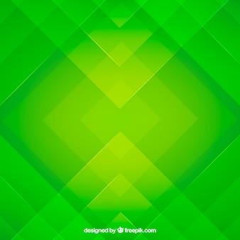 Sfondo astratto verde con design piatto
