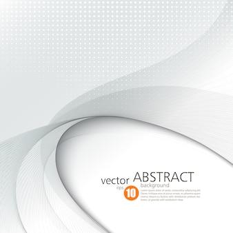 Sfondo astratto vettoriale, futuristico ondulato