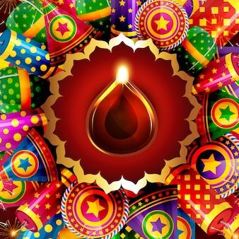 Sfondo attraente di diwali