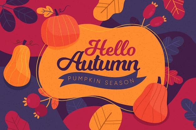 Sfondo autunno colorato retrò