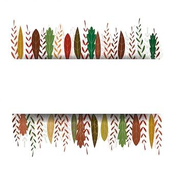 Sfondo autunno con foglie colorate