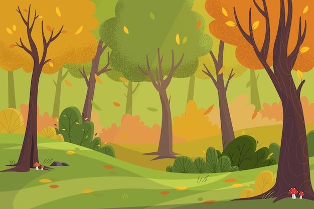 Sfondo autunno disegnato a mano