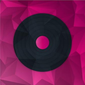 Sfondo basso poli con elemento di cerchio