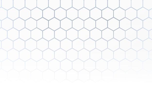 Sfondo bianco a nido d'ape in stile 3d