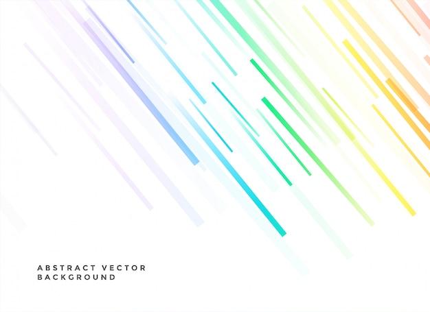 Sfondo bianco con linee colorate