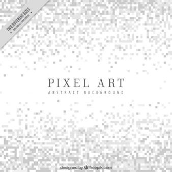 Sfondo bianco di minimalista in stile pixel art