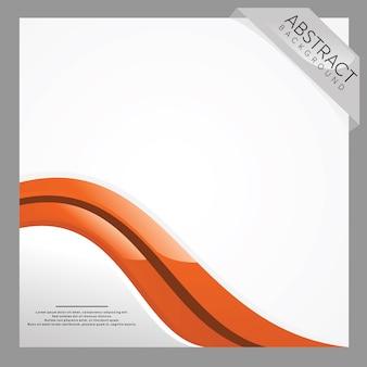 Sfondo bianco e arancione ondulato