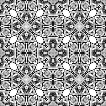 Sfondo bianco e nero modello batik