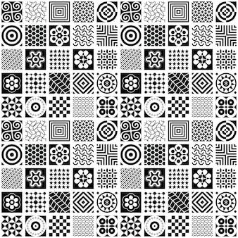 Sfondo bianco e nero senza soluzione di continuità
