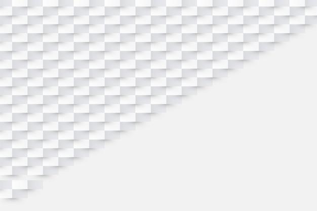 Sfondo bianco in stile carta 3d