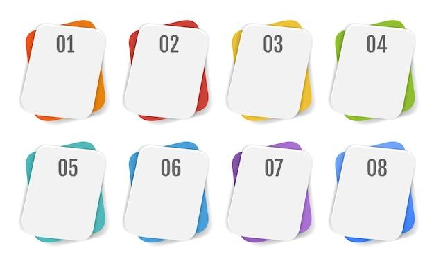 Sfondo bianco modello di banner infografica con maglia gradiente, illustrazione