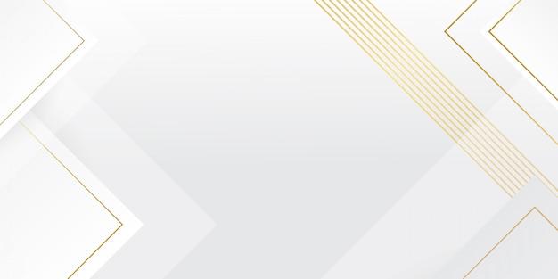 Sfondo bianco moderno con effetto linee dorate