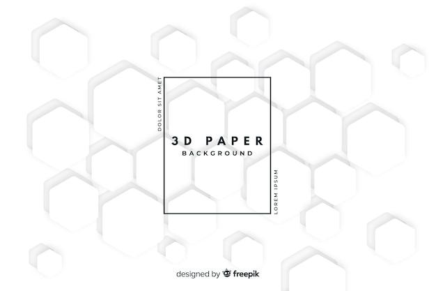 Sfondo bianco stile carta 3d