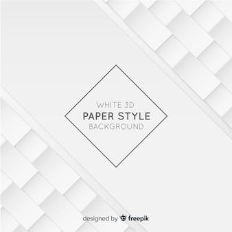 Sfondo bianco stile carta tridimensionale