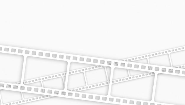 Sfondo bianco striscia di pellicola con lo spazio del testo