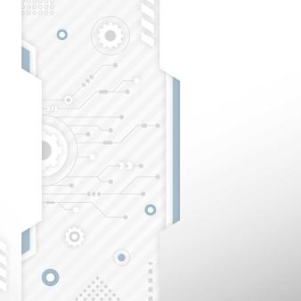 Sfondo bianco tecnologia con spazio di copia