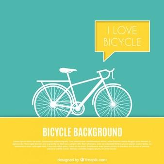 Sfondo bicicletta con dettagli gialli