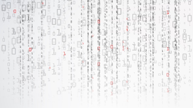 Sfondo binario del cyberspazio