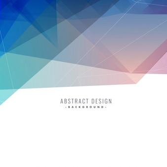 Sfondo blu astratto poligonale