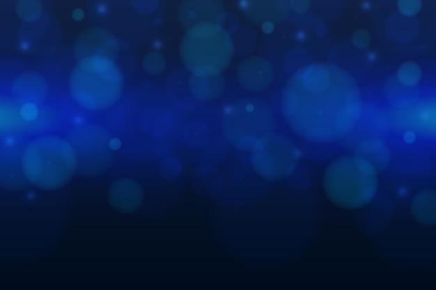 Sfondo blu con effetto bokeh