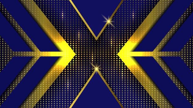 Sfondo blu con punto oro