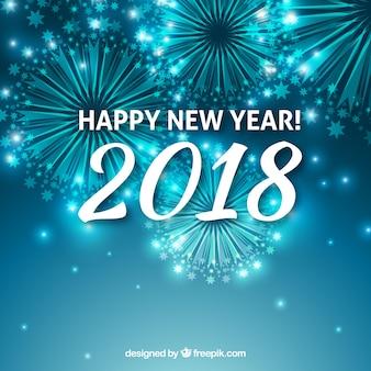 Sfondo blu del nuovo anno