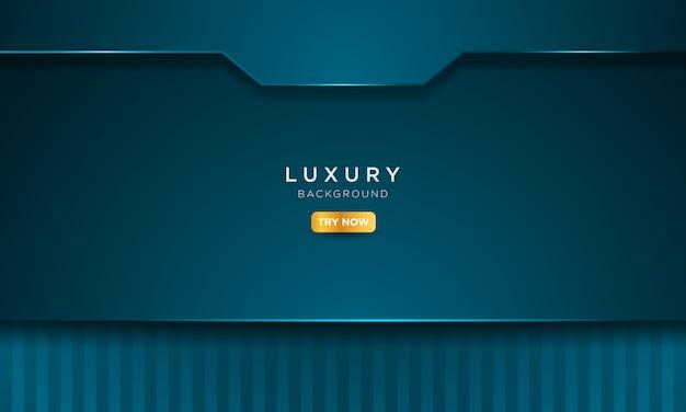 Sfondo blu di lusso con stile in metallo solido.