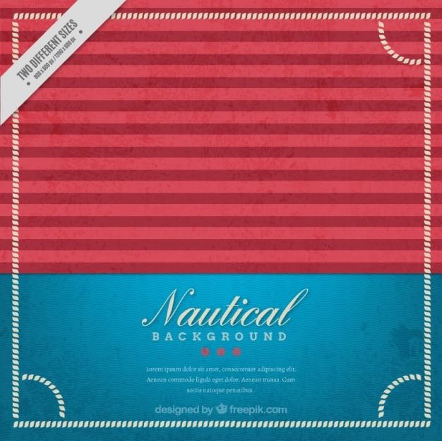 Sfondo blu e rosso nautica in stile vintage