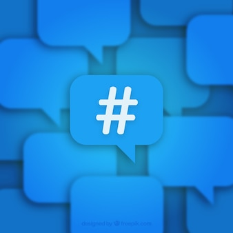 Sfondo blu hashtag