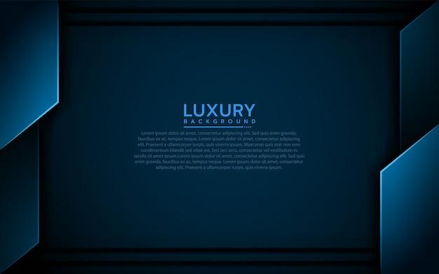 Sfondo blu navy moderno con forma astratta