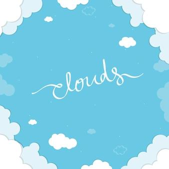 Sfondo blu nuvoloso