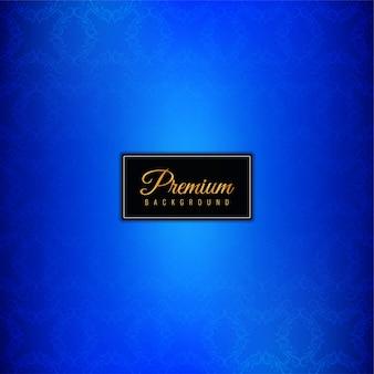 Sfondo blu premium di lusso decorativo