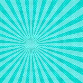 Sfondo blu raggi di sole pop art. illustrazione.