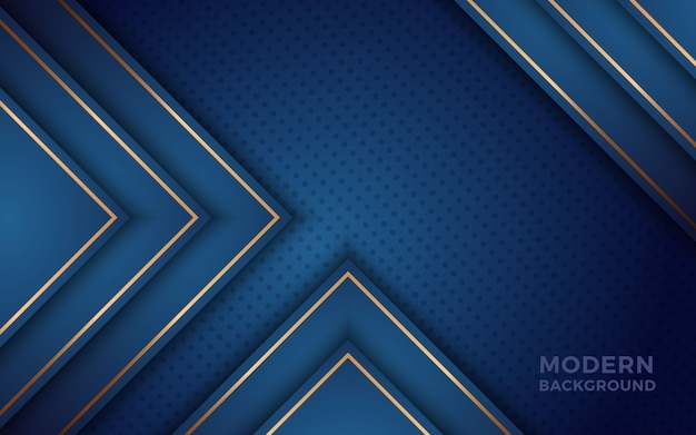 Sfondo blu realistico con effetto dorato.