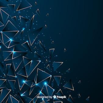 Sfondo blu scuro poligonale