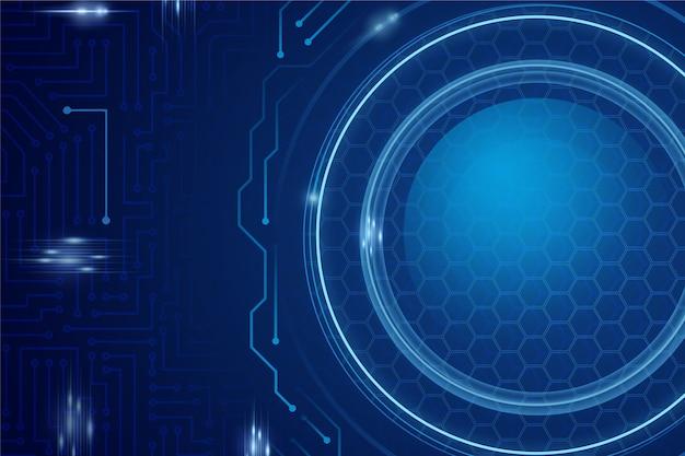 Sfondo blu tecnologia futuristica
