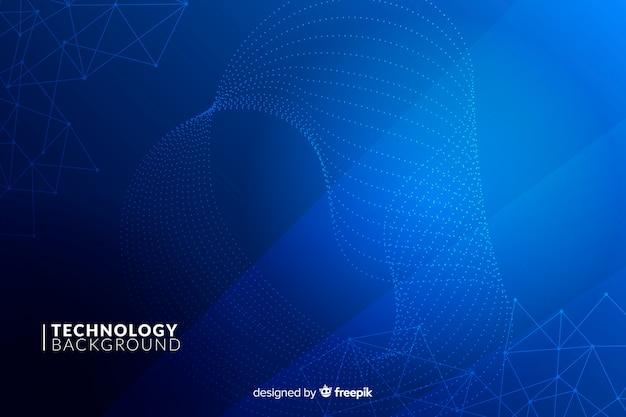 Sfondo blu tecnologia